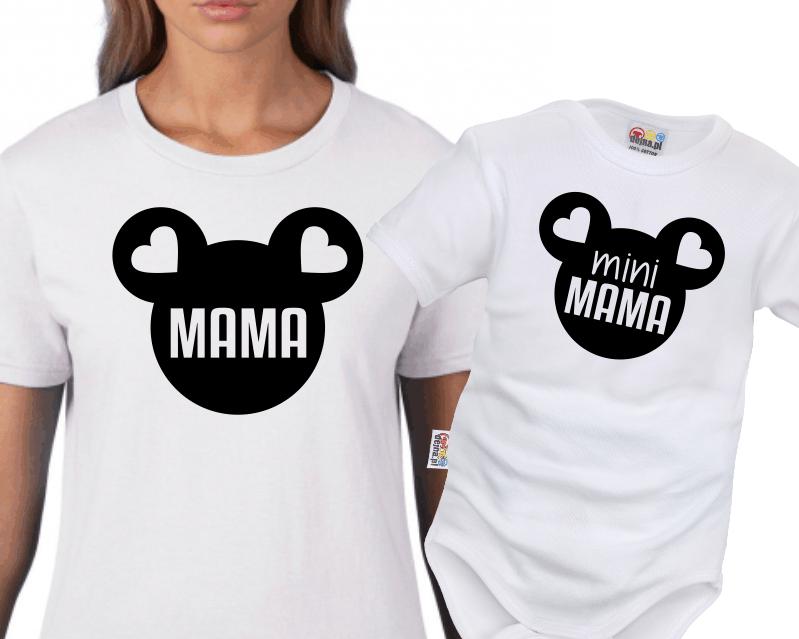 5bea327308c992 Mama i Mini Mama myszka(komplet 2 szt) - Dejna.pl nadruki na odzieży